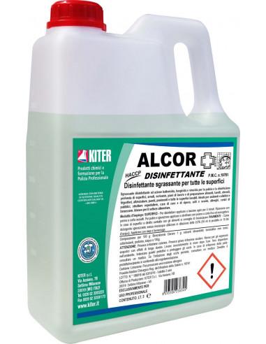 KITER ALCOR Disinfettante sgrassante battericida, fungicida e virucida per tutte le superfici
